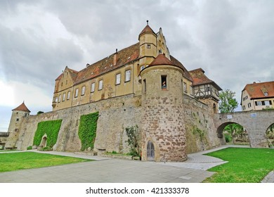 Untergruppenbach, Germany - May 15, 2016: Castle Burg Stettenfels, panorama shot. A famous place for marriages and events near Heilbronn.