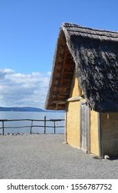 """Unteruhldingen, Baden-Württemberg/Germany - """" Pfahlbauten Unteruhldingen """" - UNESCO World Heritage Site at Lake Constanze"""