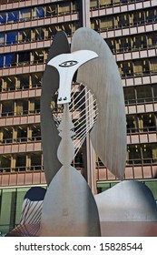 Untitled massive sculpture in a plaza in downtown Chicago by Picasso