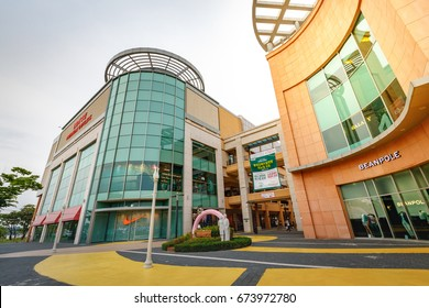 Untitled tourists and many brand stores at Lotte Premium Outlet Gimhae on Jun 24, 2017 in Gyeongsangnam-do near Busan, South Korea