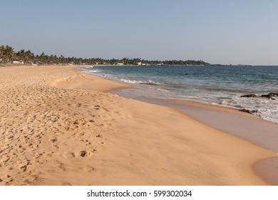 Untouched tropical beach in Sri Lanka, Asia.