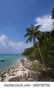 Untouched tropical beach in Thailand. Samui, Taling Ngam beach.