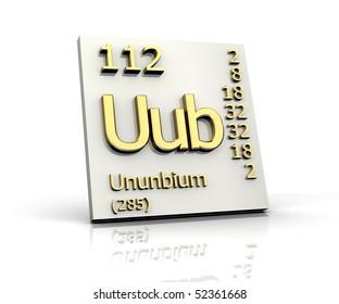 Uub stock images royalty free images vectors shutterstock ununbium periodic table of elements urtaz Choice Image