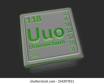 Ununoctium. Chemical element. 3d