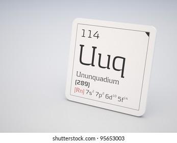 ununquadium element of the periodic table - Periodic Table Symbol Ununquadium