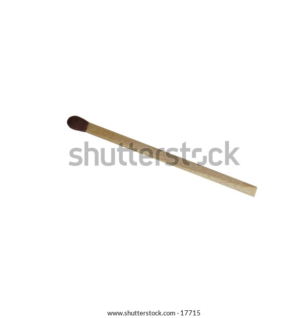 An unused match isolated on white with clipping path