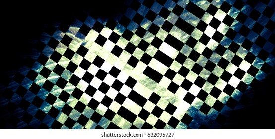 """Unusual abstract background, stylized similar to the checkered flag. For the design in racing cars, competition, rally, speed, competition, championship. The texture is blurred, the effect of """"grain"""""""