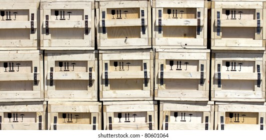 unusual background, boxes wooden