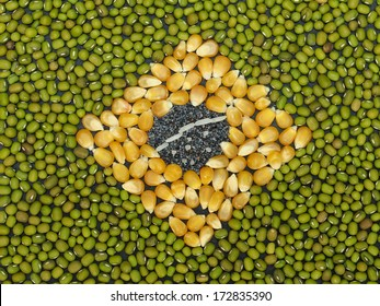 Unusual Brazil flag made of food and condiments