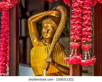 Unusual Buddhist shrine in Bangkok, Thailand