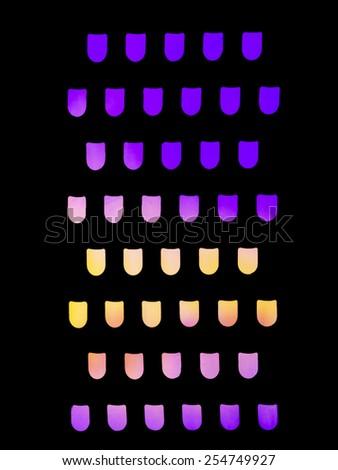 Unusual Colourful Purple Yellow Background Seen Stock Photo Edit
