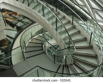 Unusual complex winding staircase
