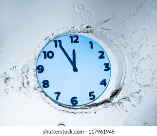 Unusual design clock with water