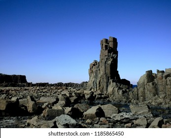 Unusual rock formation tower