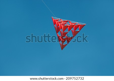 Unusual Tetrahedral Kite Made Straws Line Stock Photo Edit Now