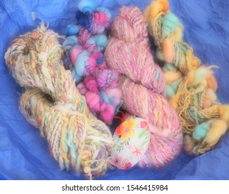 Unusual wool made on a spinning wheel