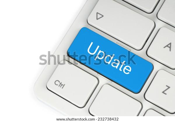 Update button on white keyboard