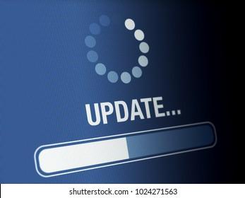 Update progress on a high resolution LCD screen.