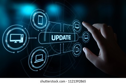 Update Software Computer Program Upgrade Business technology Internet Concept.