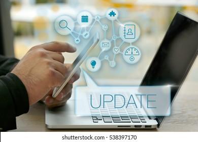 Update, Technology Concept