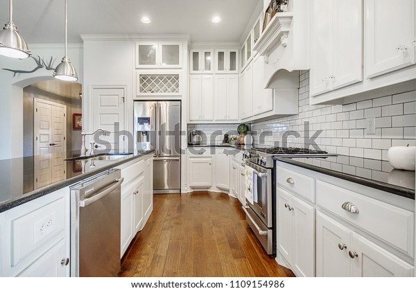 Updated New White Kitchen Remodel Luxury Stock Photo (Edit ...