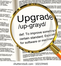 Upgrade Definition Magnifier Shows Software Update Or Installation Fix