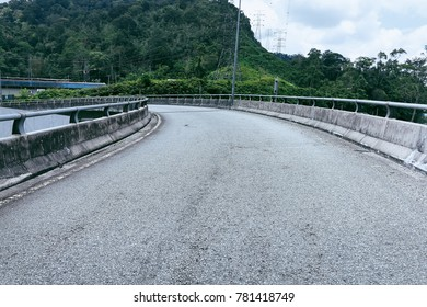 Uphill highway in Malaysia Genting Highland.