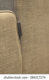 Upholstered furniture detail