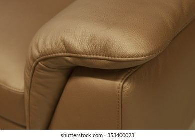 upholstered furniture - leather detail