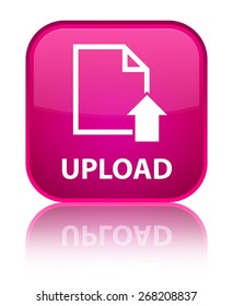 Upload (document icon) pink square button
