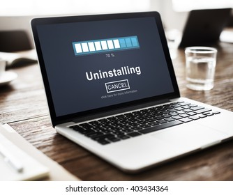 Uploading Screen Laptop Concept