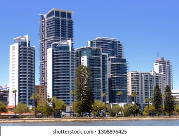 Upmarket apartments and penthouses on the riverfront in Perth, Western Australia