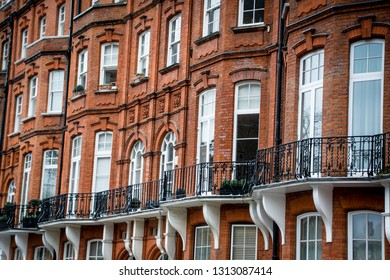 Upmarket red brick property in Kensington area of London