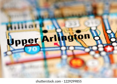 Upper Arlington. Ohio. USA on a geography map