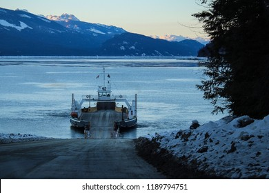 Upper Arrow Lake Ferry in British Columbia, Canada.