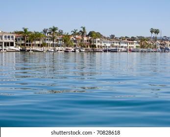The upper bay area of beautiful Newport Beach, California, USA.