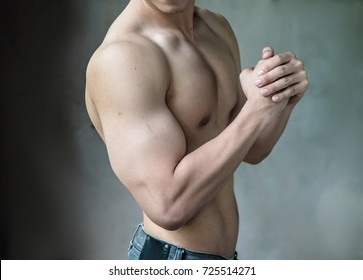 upper body muscle,Biceps, triceps, arm, upper body and torso of