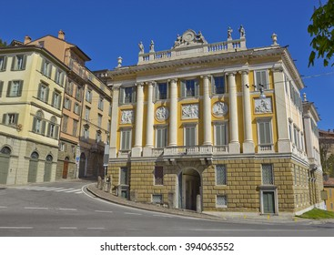 Upper city (Citta alta) of Bergamo, Italy