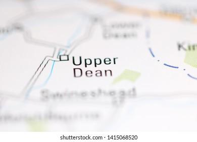 Upper Dean. United Kingdom on a geography map