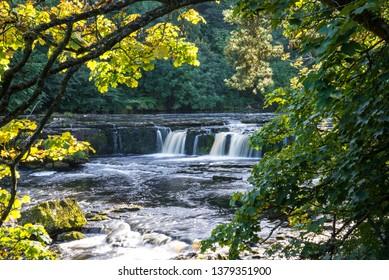 Upper falls at Aysgarth.