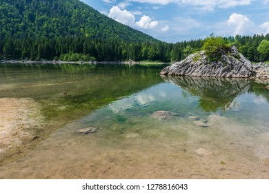 Upper Lake of Fusine. Emerald waters. Tarvisio to be discovered. Friuli