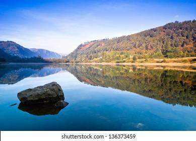 Upper Lake in Glendalough Scenic Park, Republic of Ireland, Europe