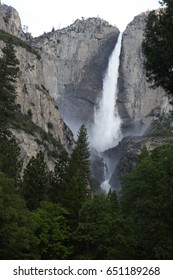 Upper and lower falls Yosemite