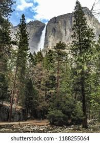 Upper and Lower Yosemite Falls at Yosemite National Park