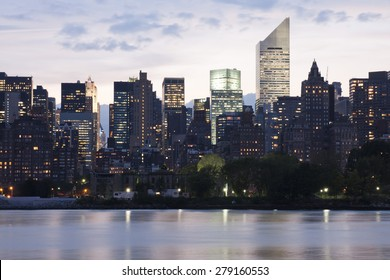 Upper Manhattan Panorama at dusk
