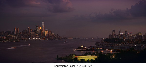 Upper Manhattan Skyline and New Jersey city from NewJersey