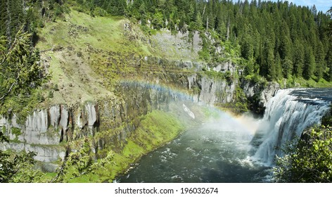The upper Mesa Falls on the Henry's Fork of the Snake River in Idaho.