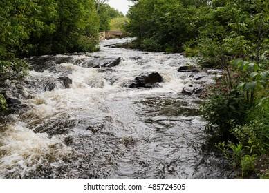 Upper part of the Bond Falls of the Ontonagon River