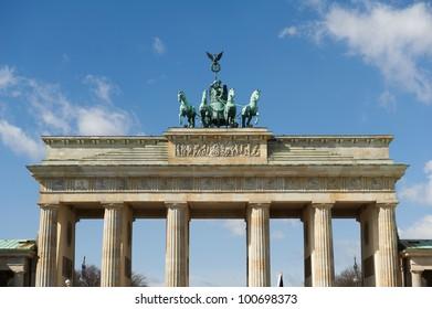 Upper part of the Brandenburg Gate and quadriga