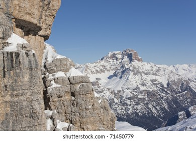 Upper Ra Valles with Croda Rossa (Hohe Gaisl) in the distance, Dolomites, Italy